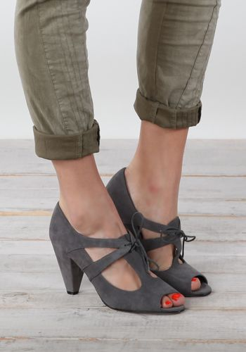 Poseidon Peep Toe Oxford by Vaneli - $72.00 : ThreadSence.com, Your Spot For Indie Clothing & Indie Urban Culture
