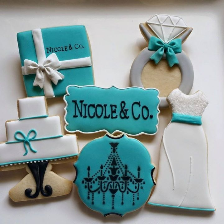 Tiffany wedding engagement cookies