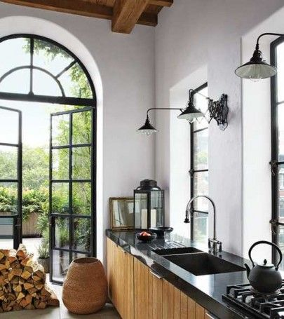 Dreamy kitchen with FAB french doors.