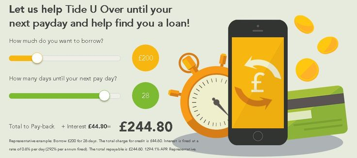 Tide U Over is a responsible payday loans direct lender offering an instant payday loan service of up to £500 today if approved. https://www.tideuover.com