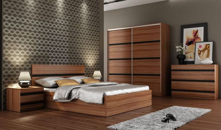 Florence   Plum And Black Glass Bedroom Set.