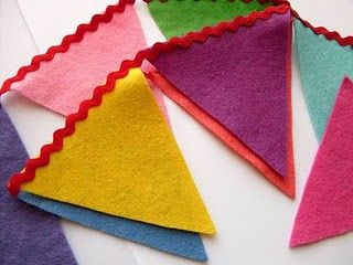 Free Felt Patterns and Tutorials: garland / bunting