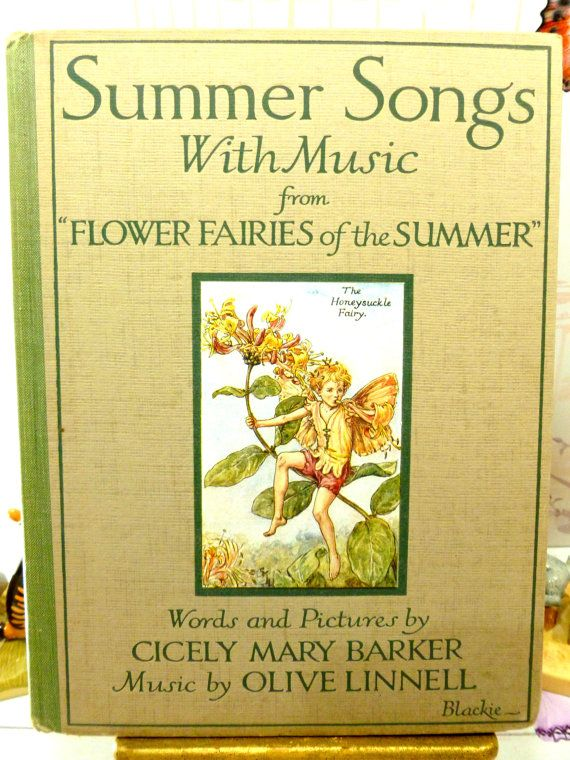 Rare First Edition Flower Fairies Book with Dust by KittysTales