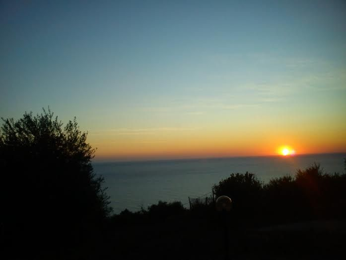 The best sunset ever only from Villa Vardia Corfu