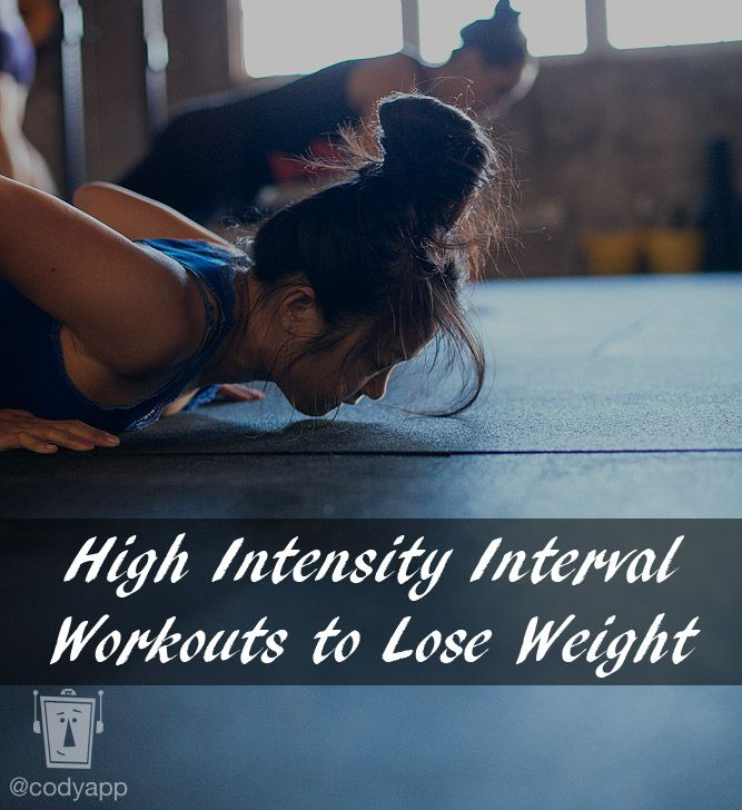 HIIT- high intensity interval training workouts to lose weight  @Ashleigh Forster -- this what you were squawking about???