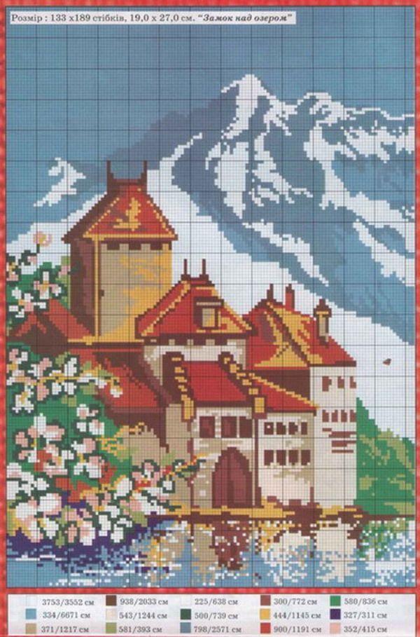 Schema punto croce Castello 19