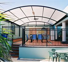 Dome Roof Steel Patio