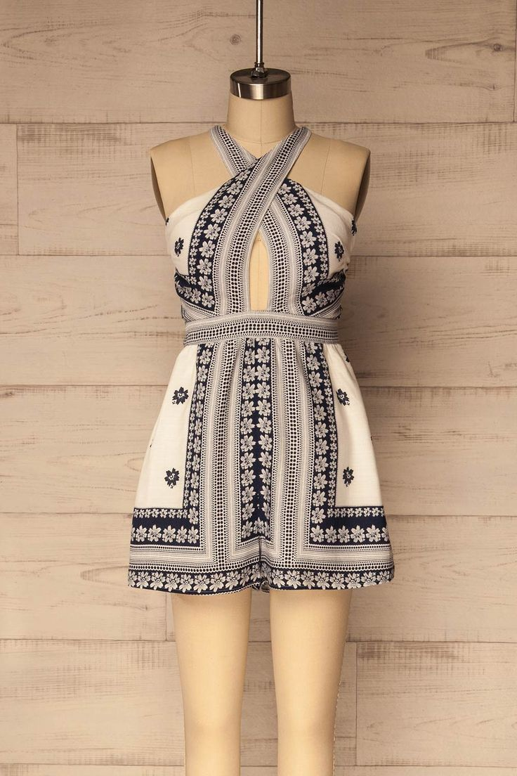 140 Best Robe Images On Pinterest Couture Formal Outfits And I Am Cotton Sleeveless Romper Blue Sea Askira