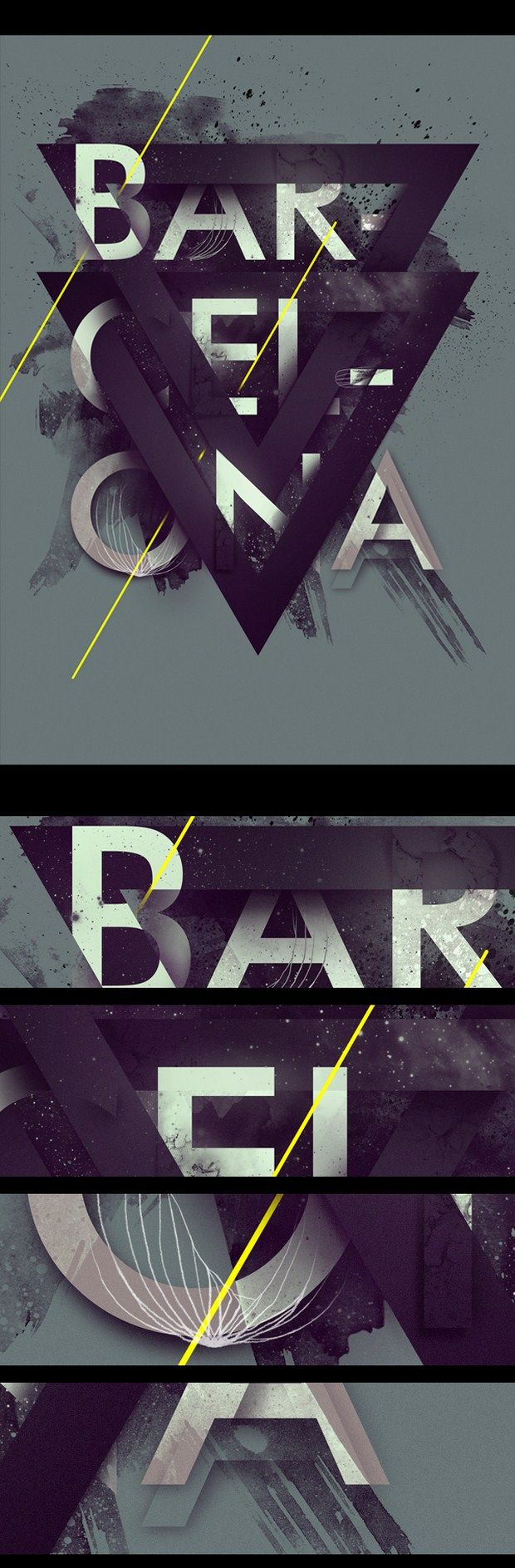 Wish to do something like this sometime..  Poster Design – BARCELONA