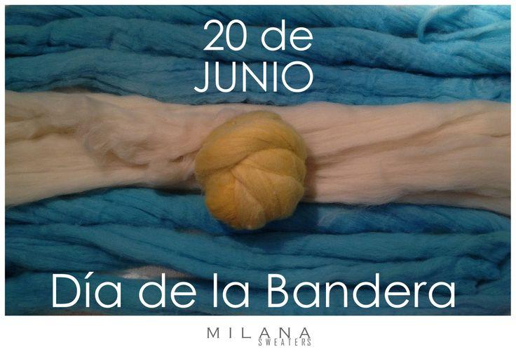 FELIZ DIA DE LA BANDERA ARGENTINA !! ESTE SABADO LAS ESPERAMOS DE 10 A 1330 HS. AV. SCALABRINI ORTIZ 1062, PALERMO TARJETAS DEBITO, CREDITO Y CUOTAS info@milanasweaters.com.ar