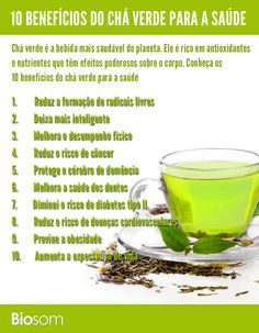 Clique na imagem para ver os 10 benefícios incríveis do chá verde para saúde…