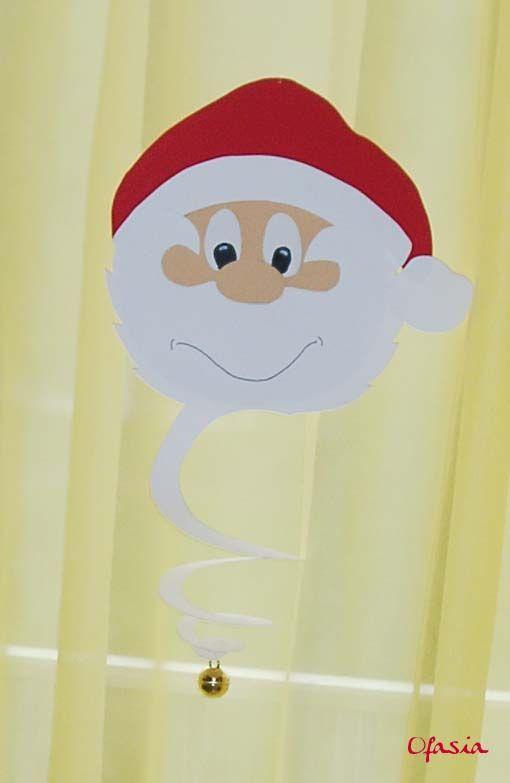 Père Noël en papier cartonné. http://www.pinterest.com/katiab57/boards/