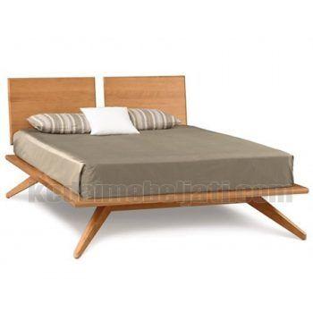 Tempat tidur modern minimalis dengan bahan kayu jati.  #tempattidur #mebelminimalisjati #kedaimebeljati