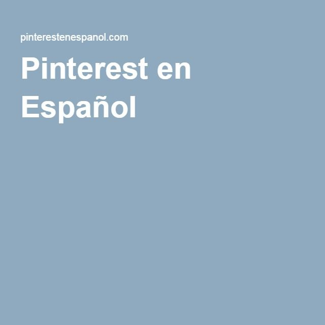 Pinterest en Español