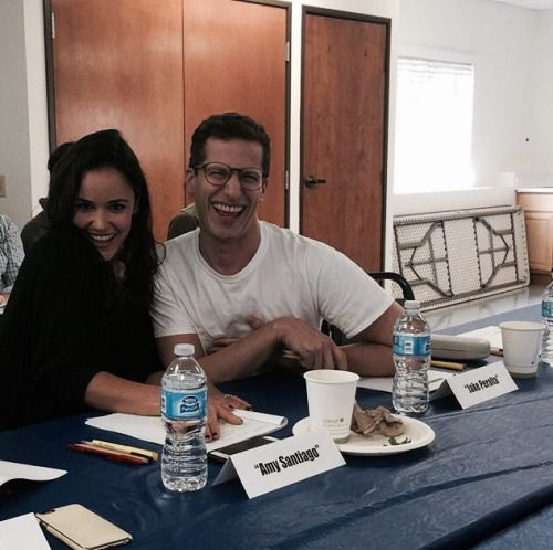 Melissa Fumero and Andy Samberg