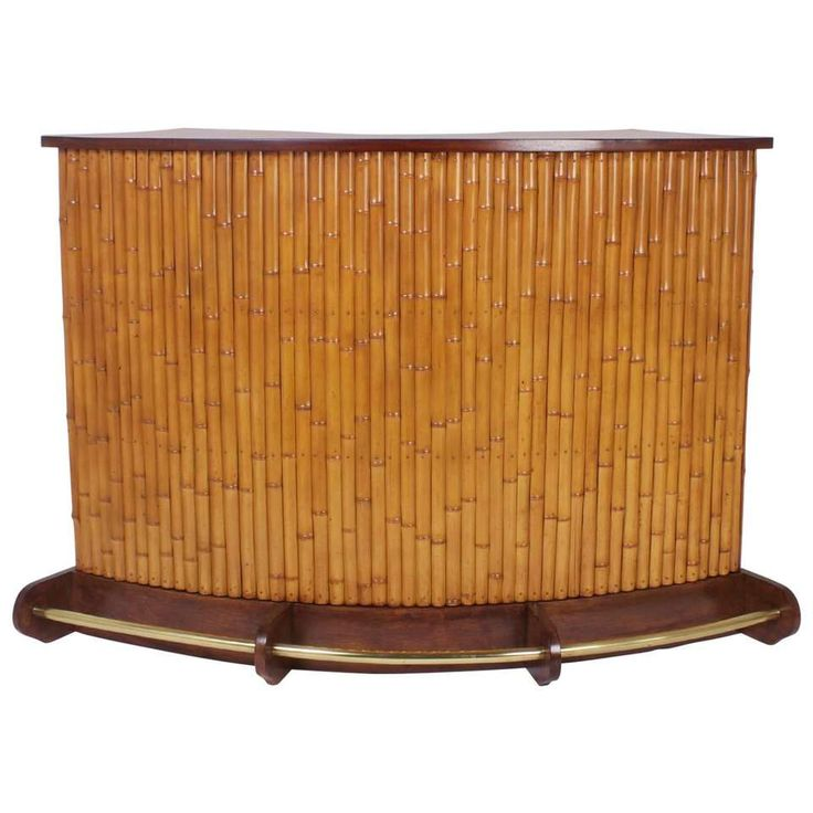 Mid-Century Bamboo Tiki Bar 1