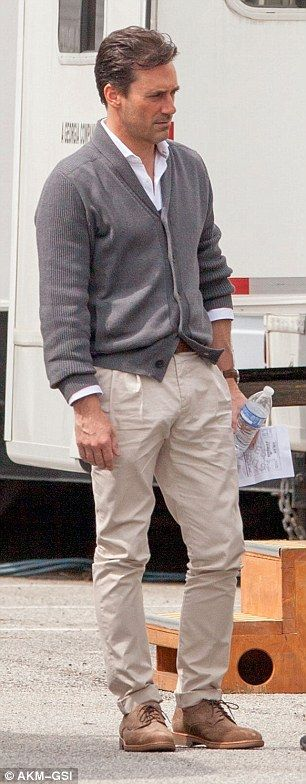 Mad Men's Jon Hamm seen on set for the first time since rehab stint
