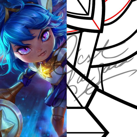 Cosplay PDF Vector Pattern Blueprint  Star Guardian by CestLaSara