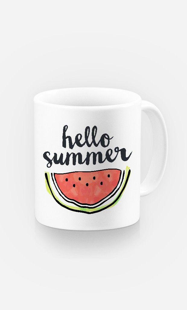Mug Hello Summer de la collection Summer Time - Wooop.fr