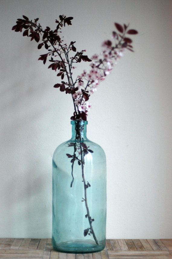 large vintage bottle, perfect for cuttings.