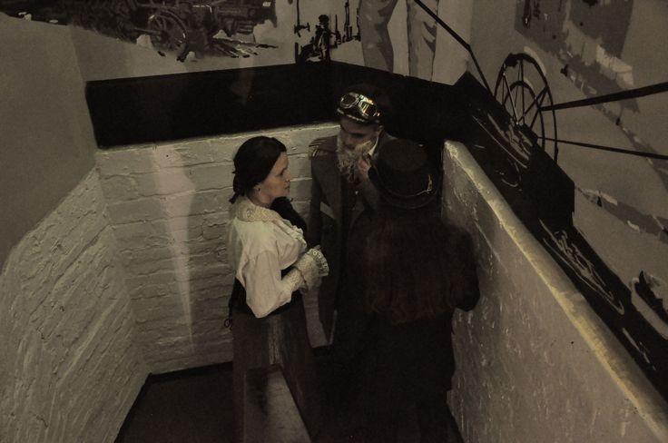 countess Sabina von Frankenstein, general Christian von Treskov and lord Samuel Talleyroth LARP: First Fly of Titania Photo: Malwina Żuchowska https://www.facebook.com/GrupaProKreacja/