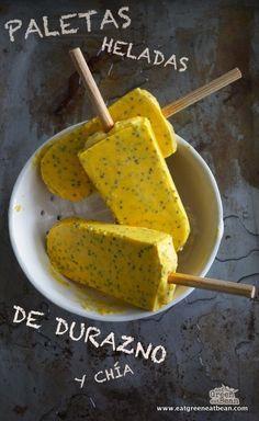 Ingredientes:   3 duraznos, cortados y sin hueso   ½ taza de leche de coco o la pueden reemplazar por cualquier otra   2 cucharadas de c...