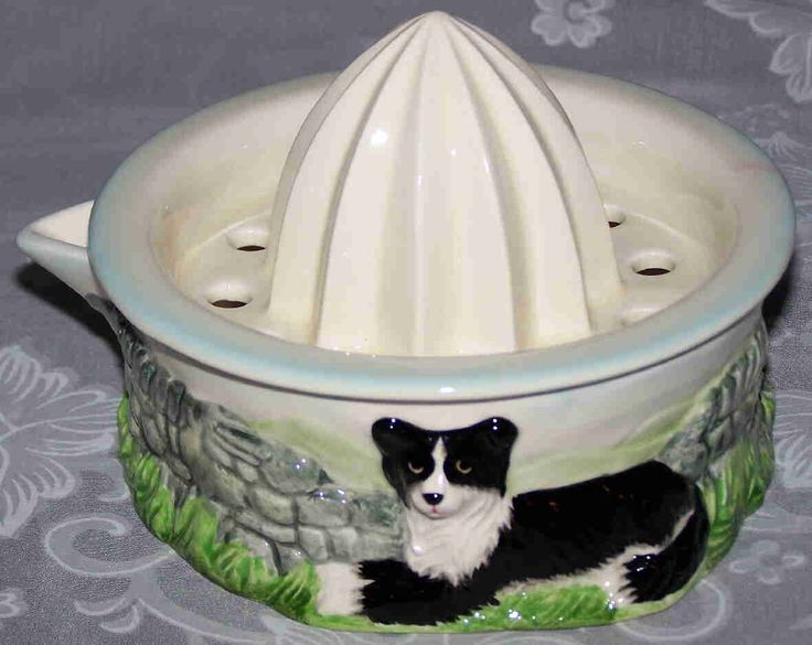 Border collie ceramic juicer