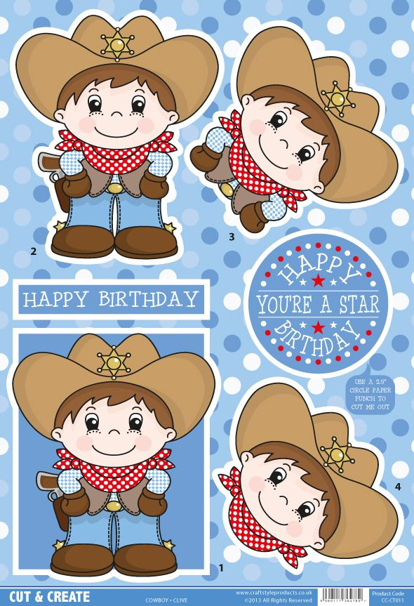Buzzcraft Boys and Girls Cut & Create - Cowboy Clive