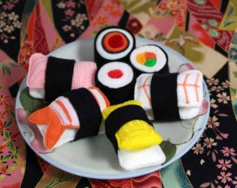 Play Felt Food Sushi Take Out by Marche73 on Etsy