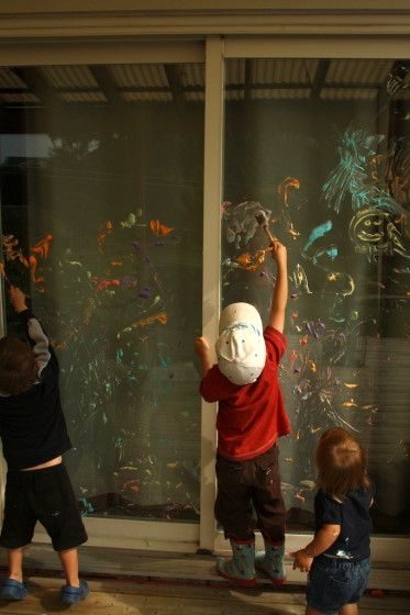 painting with shaving cream -and other ideas of things to do with shaving cream