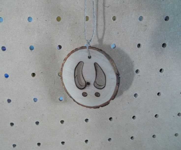 Buck Hoof Print on Small Hardwood Round by KnottyCrafters on Etsy