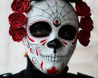 Dark Beauty Mask Day of the Dead full faced mask by EffigyMasks