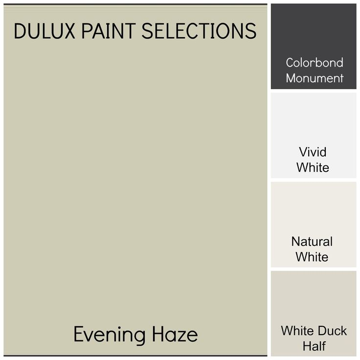 Natural White Colorbond Monument Vivid White Evening Haze Colour