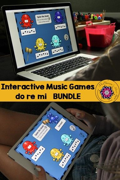 Melody Games for Do Re Mi Interactive Music Games and Assessment {Bundle} Fun elementary music activities , easy to add to lesson plans and aurally reinforce melody! Excellent on tablets, web browsers and Interactive Boards?