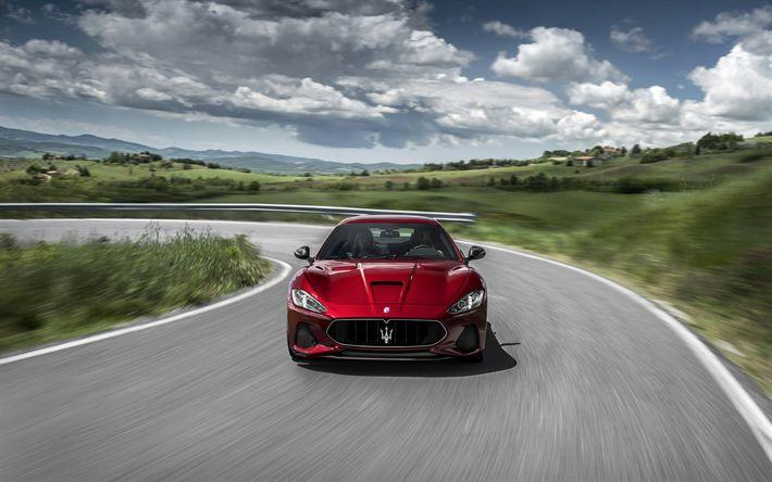 Descargar fondos de pantalla 4k, Maserati GranTurismo, 2018 coches, carreteras, red GranTurismo, los autos italianos, Maserati