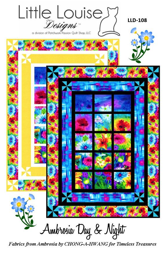 Window Quilt Pattern  Ambrosia Day & Night   by LittleLouiseQuilts