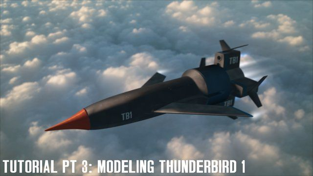 Modeling Thunderbird 1 in #Cinema4D by Devin Sloan - part 3: This is the third in my series of modeling tutorials doing a step by step of creation of Thunderbird 1.  Part three covers making the fins and a few fine tuning adjustments.  Check out my website and Twitter: www.twitter.com/dsc4d www.dsc4d.com