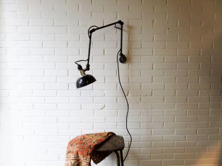 www.studiogespuis.nl #werklamp #fabriekslamp