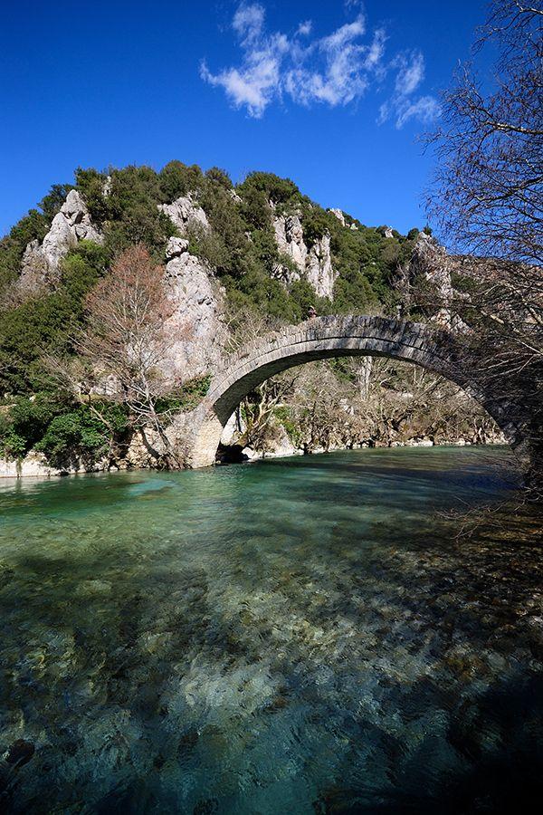 On the way from Ioannina to Konitsa, near Kleidonia village, Epirus, Greece