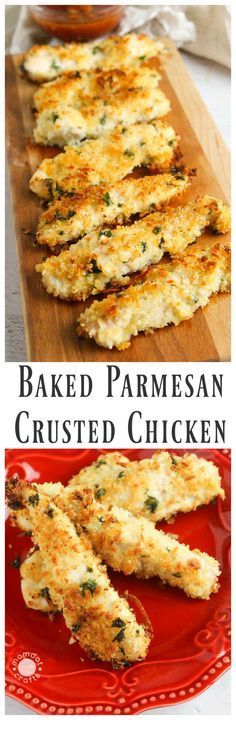 Baked Parmesan Crusted Chicken #dinnerrecipes