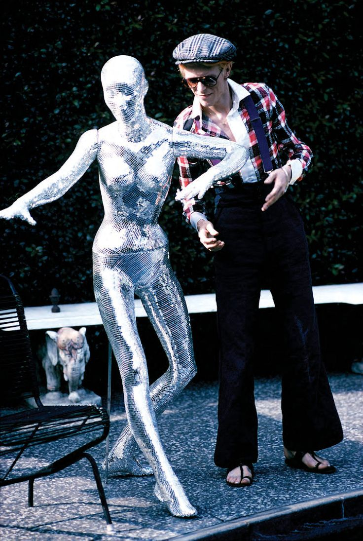 David Bowie, at home in Los Angeles, 1975