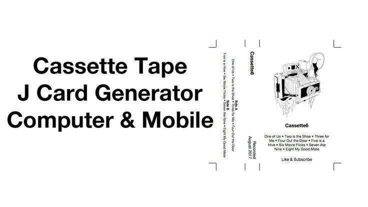 Cassette Tape J Card Template Generator Easy Mixtape Artwork Maker Computer Ios Android With Regard To Cassette J Card T Cassette Tapes Card Template Cassette