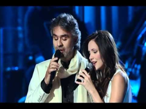 Andrea Bocelli & Katherine McPhee----The Prayer ~Beautiful!! I feel like repinning this to all my music boards...I just love this song