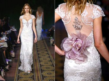 Claire Pettibone- I think she designs some of the most delicate and feminine wedding dresses ever.