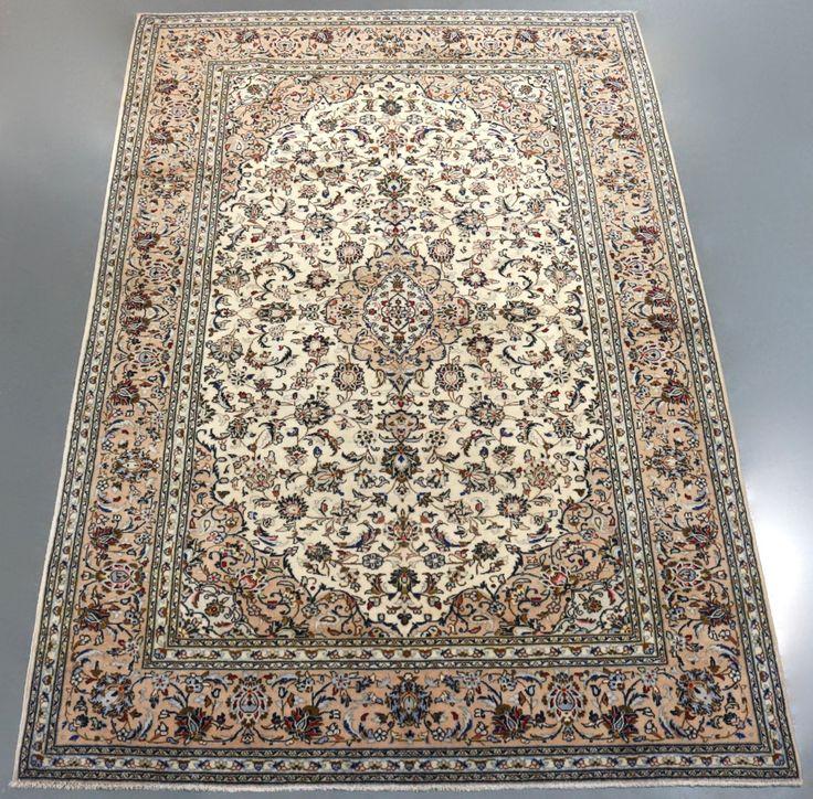 Pistachio Kashan Persian Rug (Ref 193) 303x201cm - PersianRugs.com.au