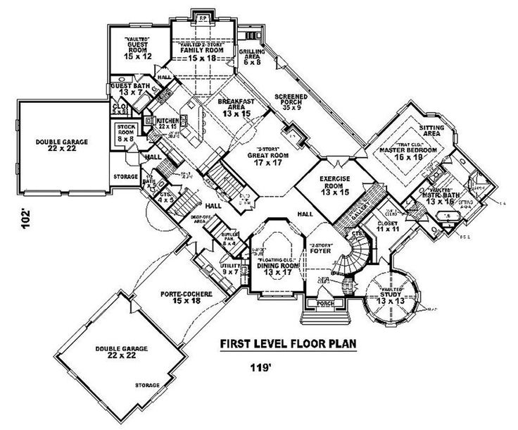 this european design floor plan is 8205 sq ft and has 4 bedrooms and has 4 bathrooms
