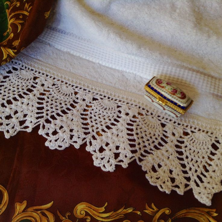 83 best images about puntillas para toallas y manteles on - Puntas de ganchillo ...