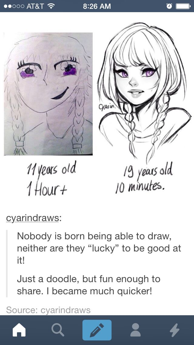 HI! Saw this on Tumblr and thought it was so inspiring! Keep drawing guys!!!