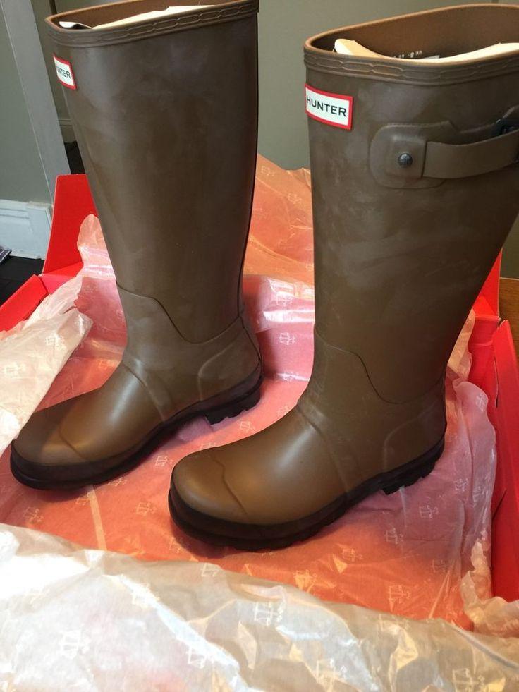 Mens Original Twotone Tall Hunter Boot Khaki US9 Mens #Hunter #Rainboots
