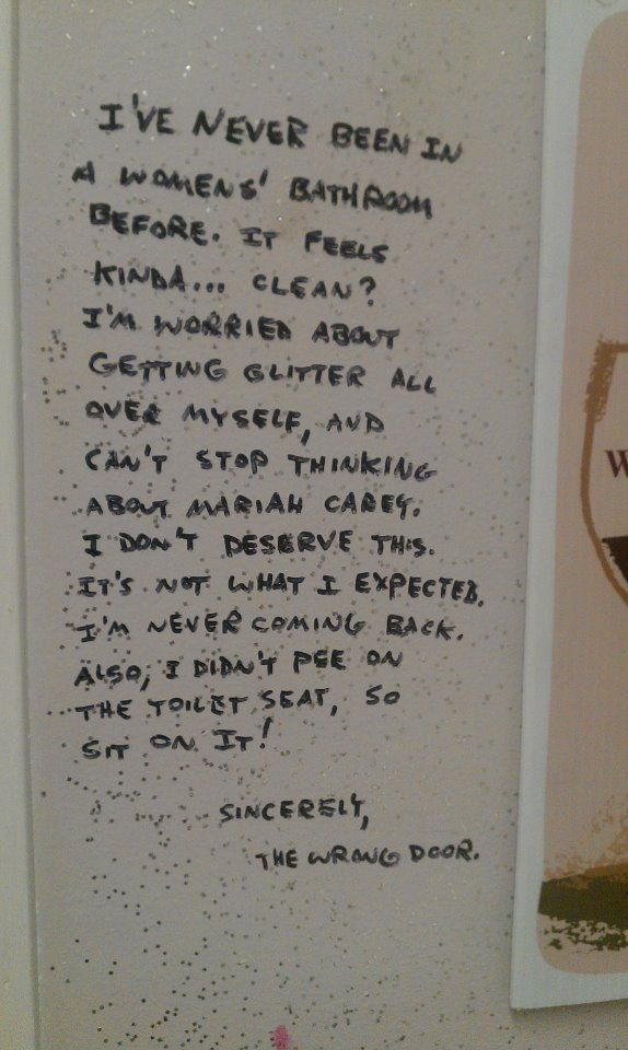 Great Bathroom Stall Quotes 70 best written on the walls images on pinterest | bathroom stall